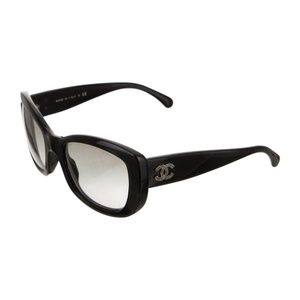 Chanel Black Interlocking CC Sunglasses
